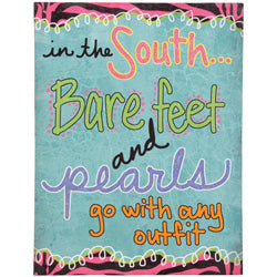 "Sassy and Southern ""Barefoot and Pearls"" Wall Art - Southern Style and Stash A Specialty Boutique"