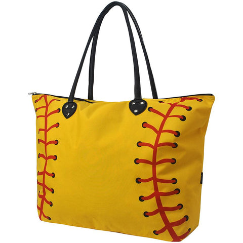 Softball Yellow Large NGIL Collection Tote Bag - Southern Style and Stash A Specialty Boutique