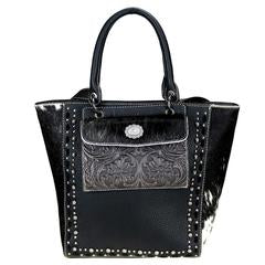 Trinity Ranch Hair-On Leather Collection Concealed Handgun Tote /Crossbody