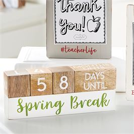 TEACHER BREAK WOODEN COUNTDOWN BLOCKS - Southern Style and Stash A Specialty Boutique
