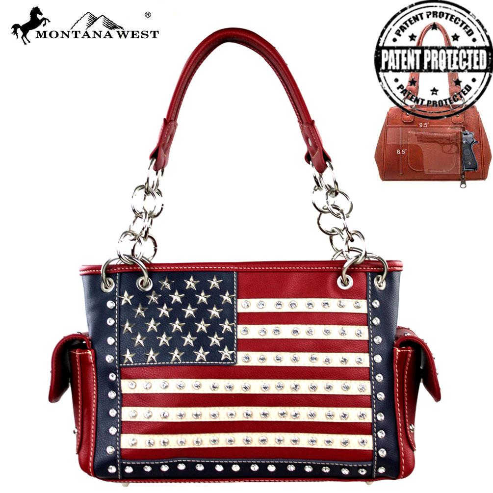 American Pride Concealed Handgun Collection Satchel - Southern Style and Stash A Specialty Boutique