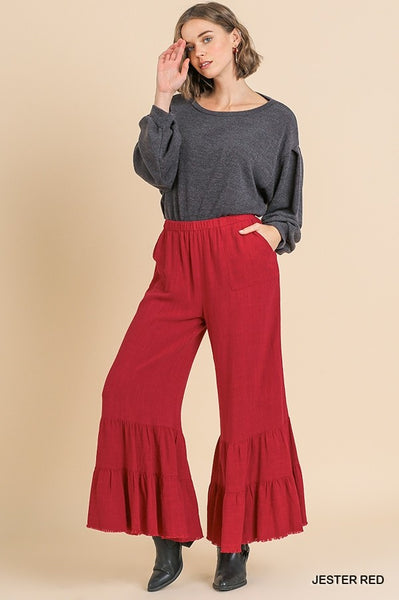 Jester Red wide leg pants