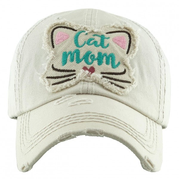 """Cat Mom"" hat"