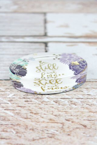 """Be Still And Know"" Floral Glass Paperweight - Southern Style and Stash A Specialty Boutique"