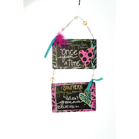 "Sassy and Southern ""Once Upon a Time"" Double Message Bar - Southern Style and Stash A Specialty Boutique"