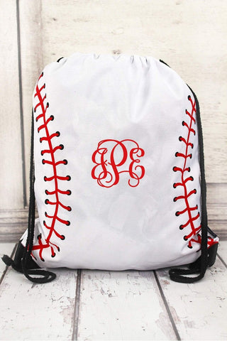 Baseball Laces Drawstring Backpack - Southern Style and Stash A Specialty Boutique