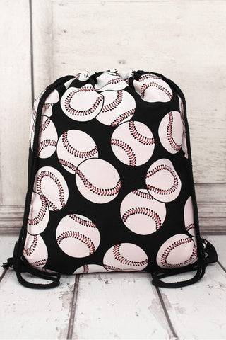 BASEBALL DRAWSTRING BACKPACK - Southern Style and Stash A Specialty Boutique
