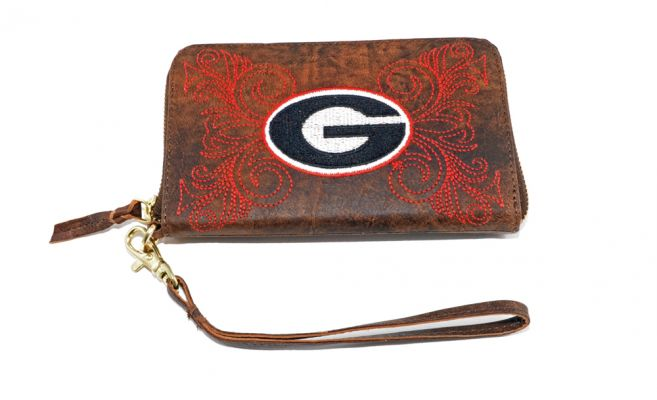 Gameday University of Georgia wristlet