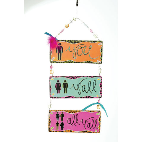 "Sassy and Southern ""Y'all"" Triple Message Bar - Southern Style and Stash A Specialty Boutique"