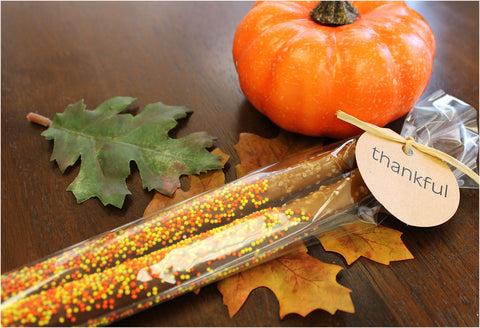 Milk Chocolate Pretzel Rods- 2 pack -Fall / Thanksgiving Theme