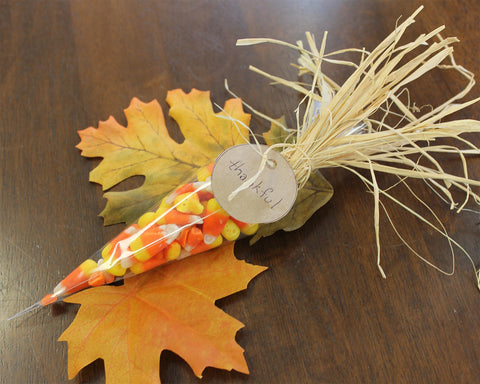 Candy Corn - Thanksgiving table favor