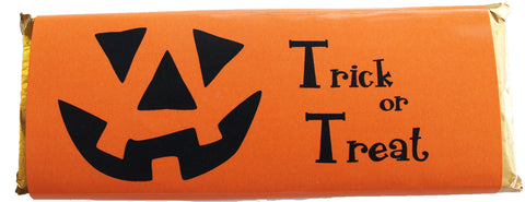 Halloween chocolate candy bar