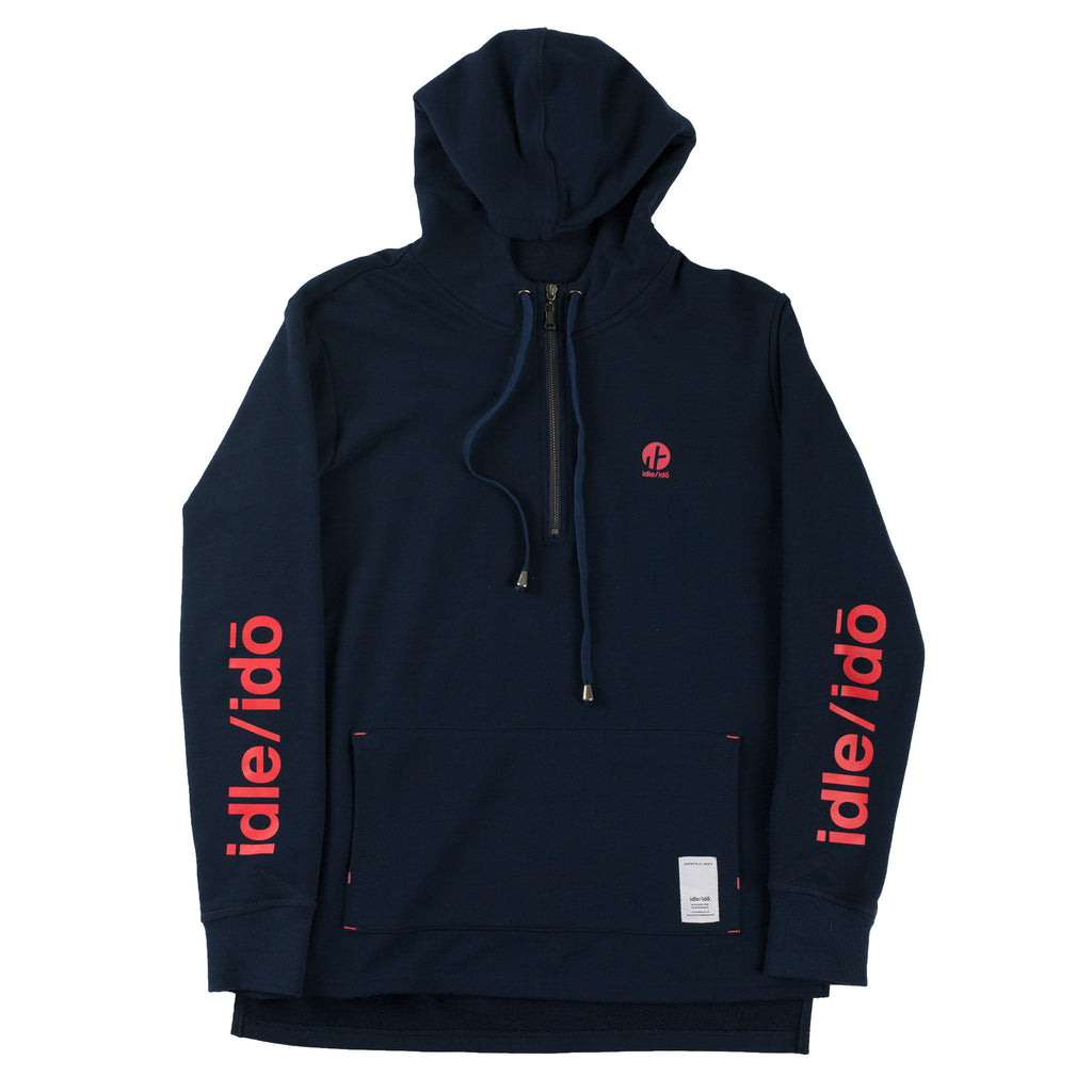 "4. ""Nakama Ishiki"" Double Hooded Half Zip Pullover"