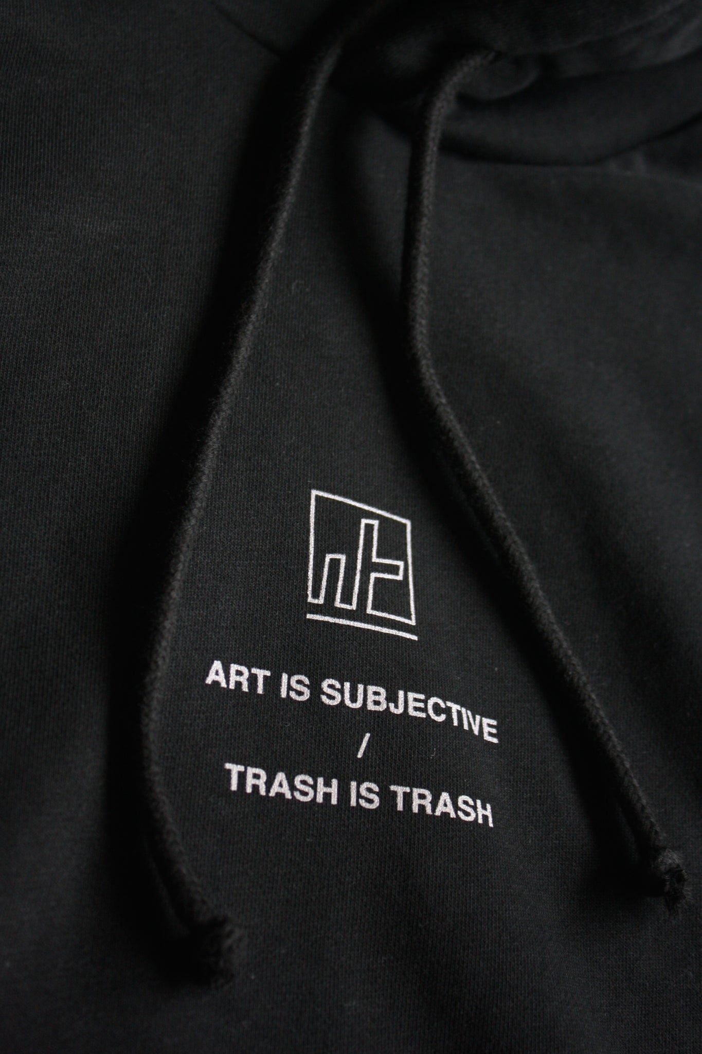 "2. ""TRASH IS TRASH"" Double Hooded Hoodie"