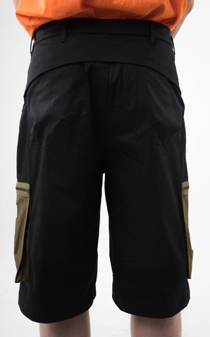 "2. ""Viridescent"" Knee Length Cargo Pants"