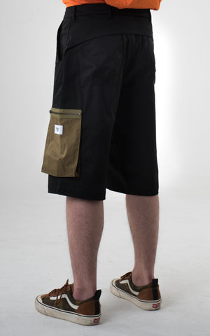 "0. ""Viridescent"" Knee Length Cargo Pants"