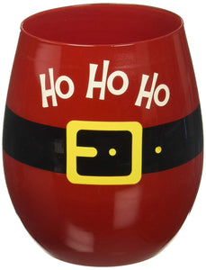 Ho Ho Ho Stemless Wine Glasses