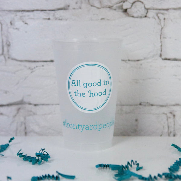 The Turquoise Table cups and stickers - Set of 6
