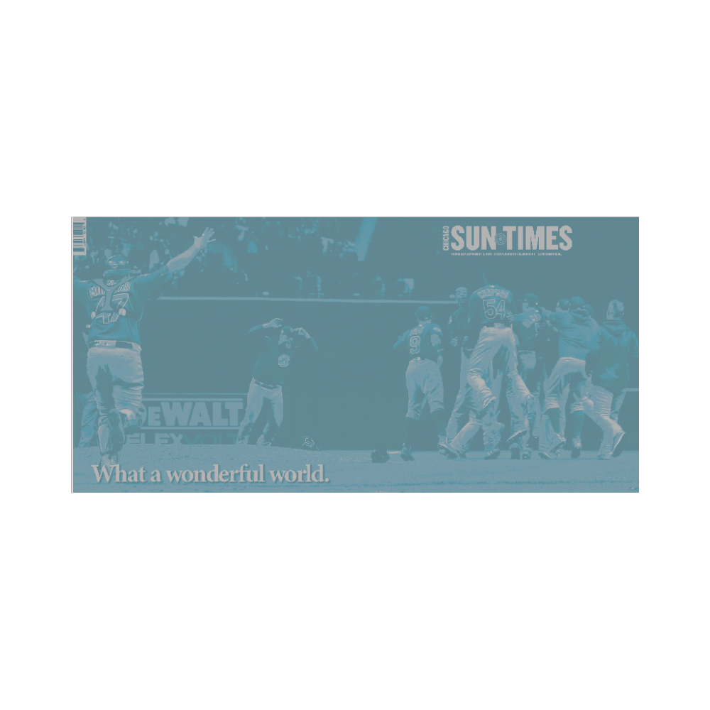 Chicago Sun-Times 2016 World Series Cover Press Plate