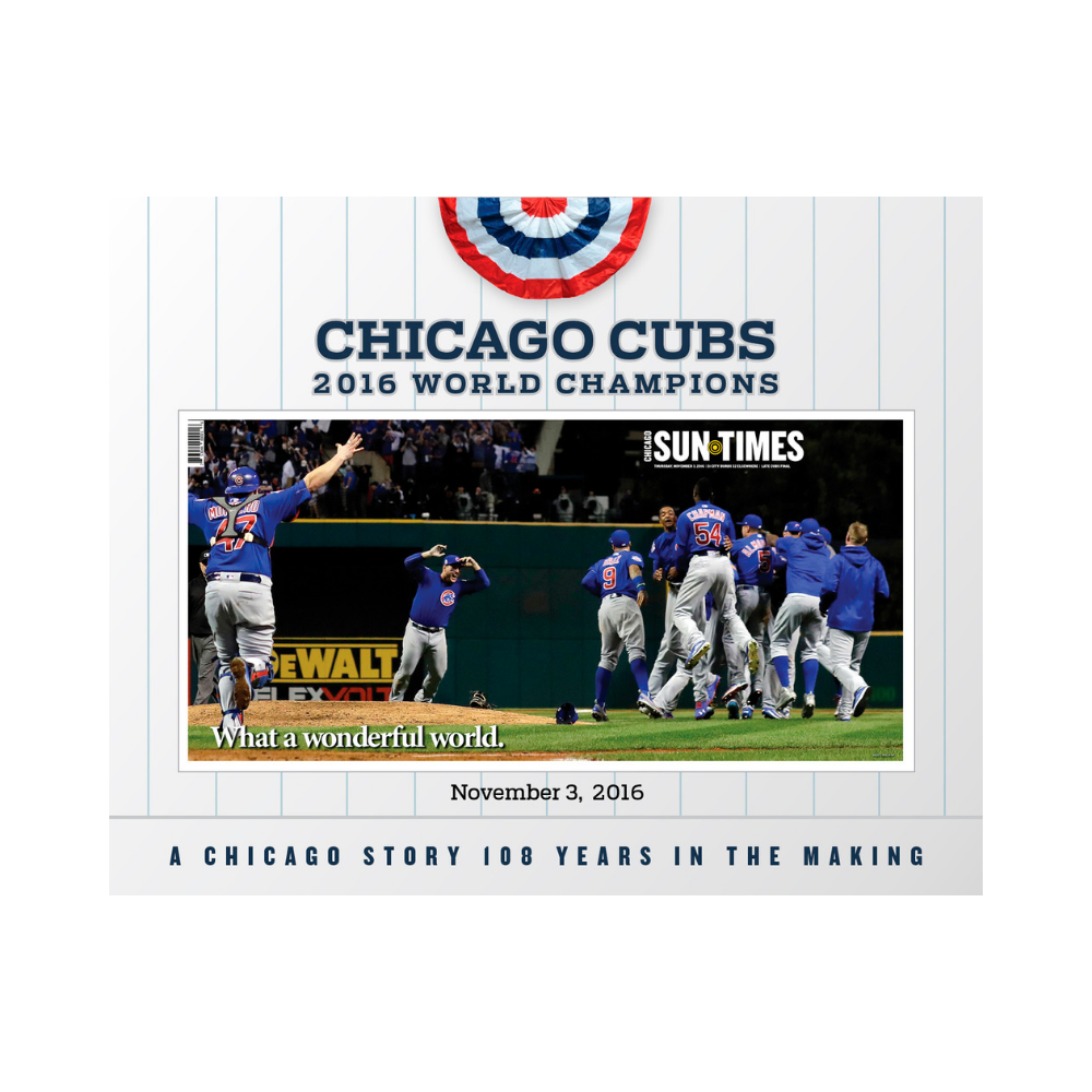 Chicago Sun-Times 2016 World Series Cover Poster