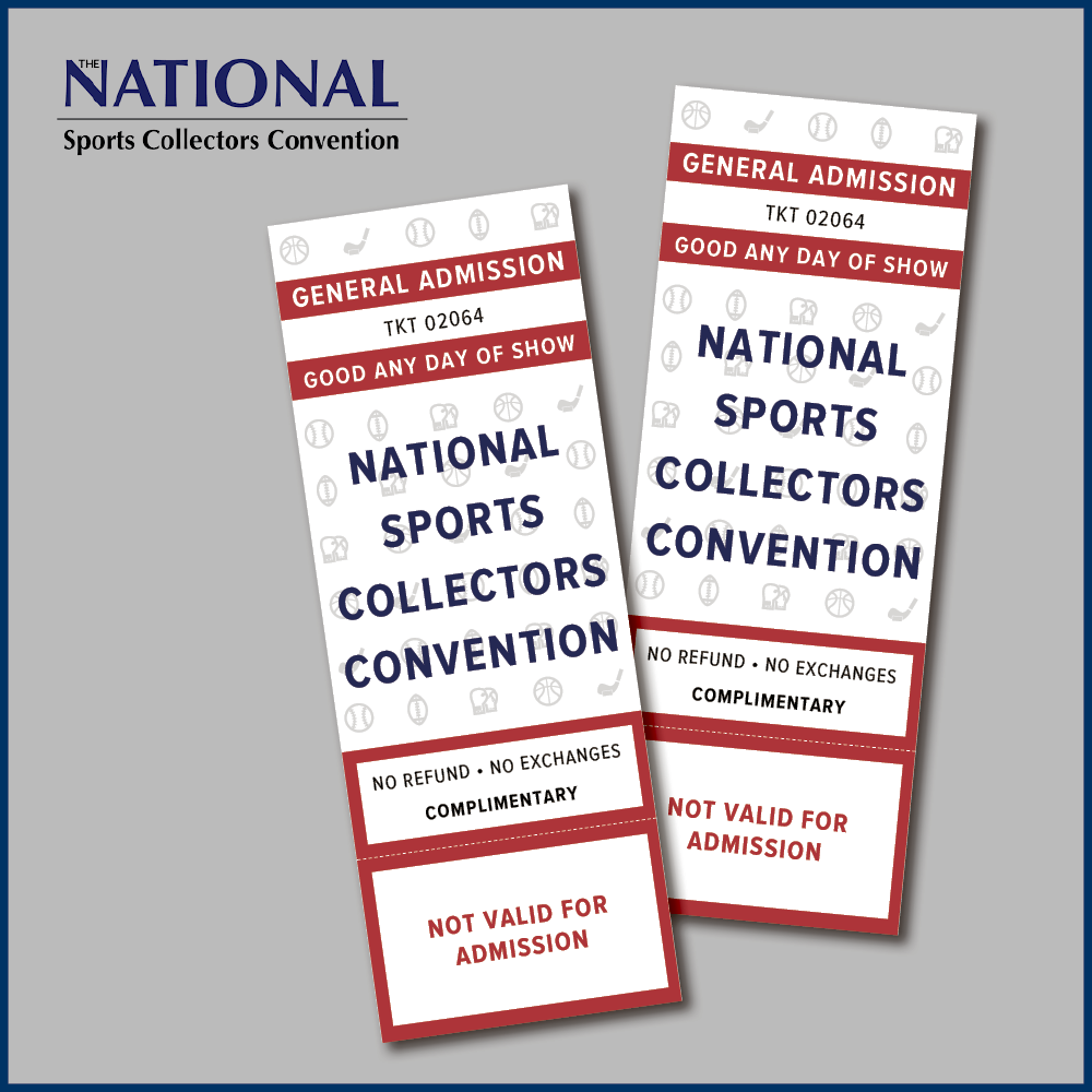National Sports Convention Show Tickets - Limit 2