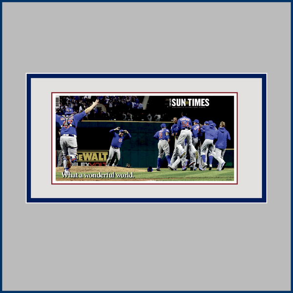 Chicago Sun-Times 2016 World Series Cover, Framed