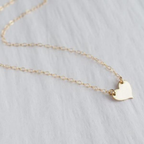 Heart Necklace in Silver, Gold and Rose Gold