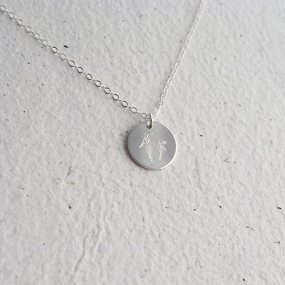 RUNNING MOM and CHILD Necklace in Silver, Gold or Rose Gold