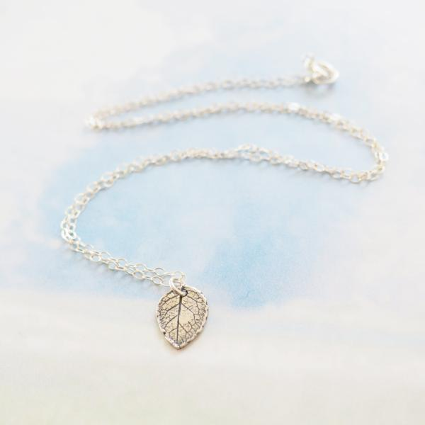 Leaf Necklace in Sterling Silver, Gold and Rose Gold