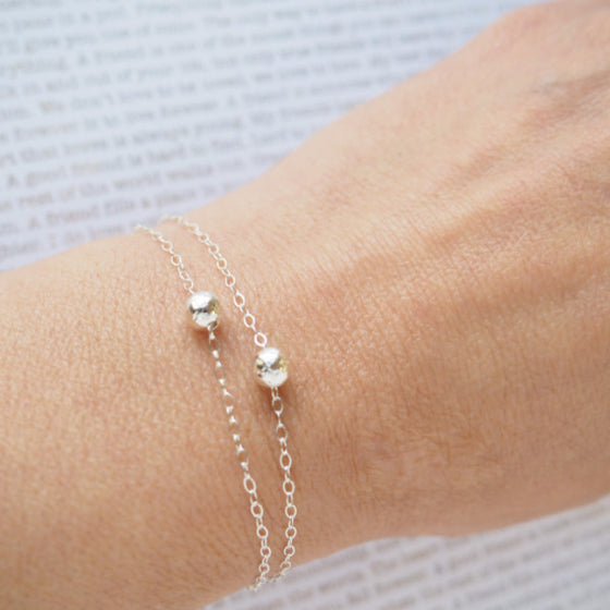 Double Ball Bracelet in Silver, Gold and Rose Gold
