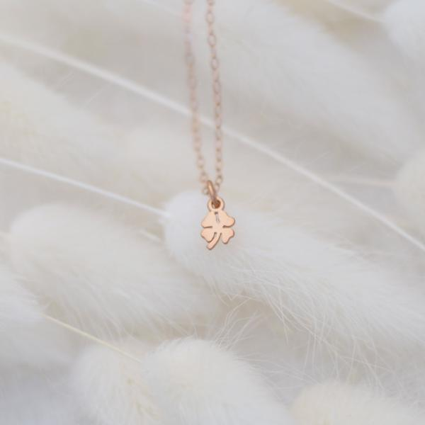 Clover Necklace in Sterling Silver, Gold, Rose Gold
