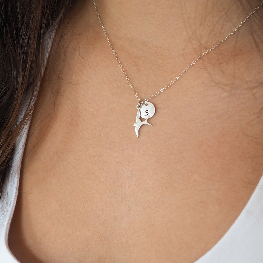 Spread Your Wings and Fly Necklace in Sterling Silver