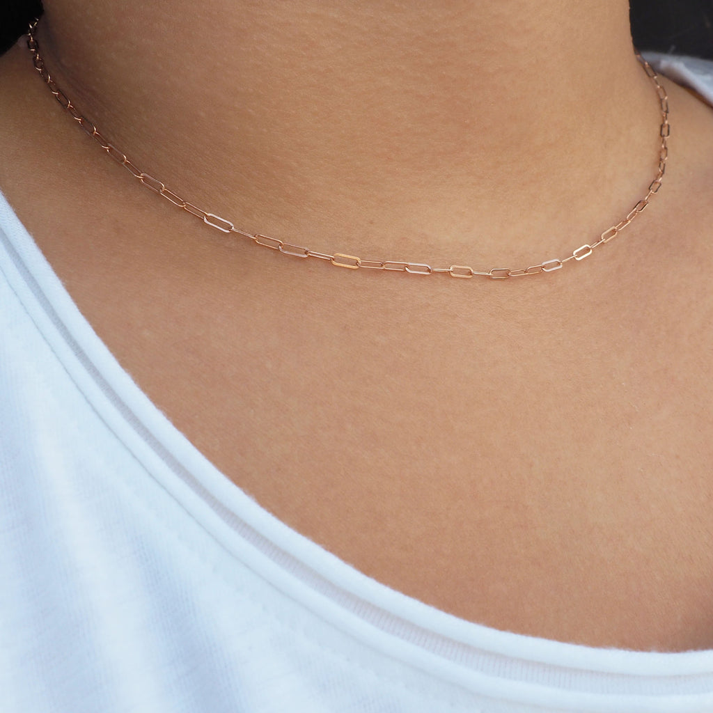 Rose Gold Bold Chain Necklace