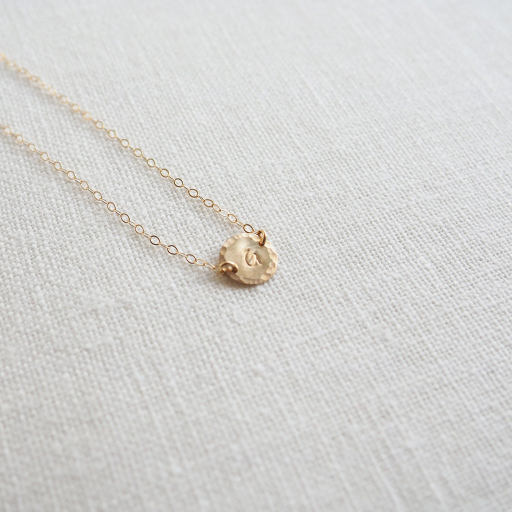 Offside Initial Necklace in Silver, Gold and Rose Gold