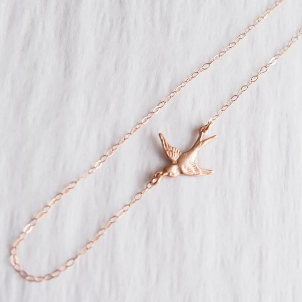 Bird Anklet, Available in Silver, Gold or Rose Gold