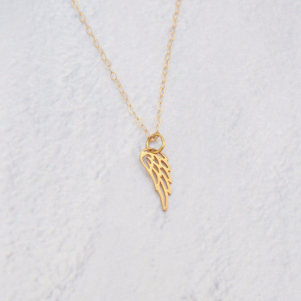 Angel Wing Necklace in Silver, Gold or Rose Gold