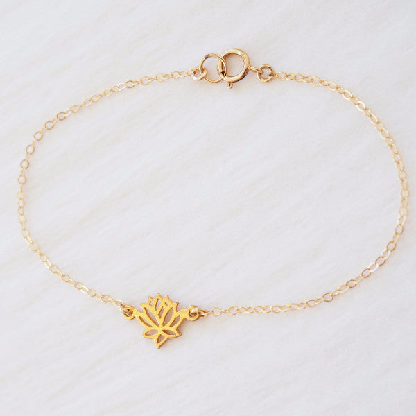 Lotus Anklet in Silver, Gold or Rose Gold