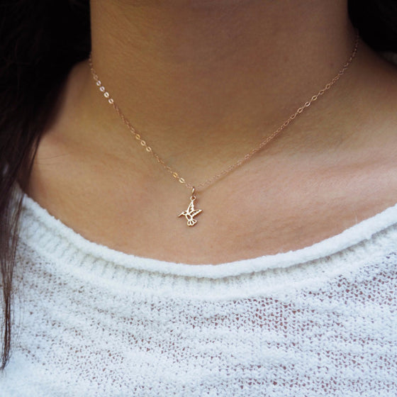 Delicate Hummingbird Necklace
