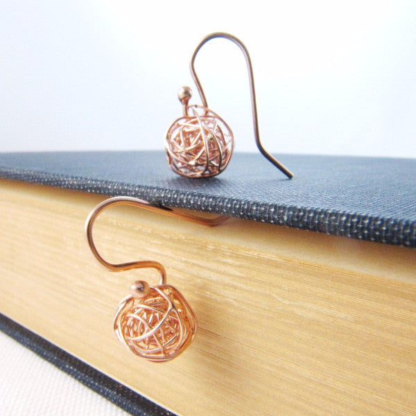 fd678db30 Rose Gold Earrings, Love Knot Earrings, Tie The Knot Earrings, Bridesmaids  Gift