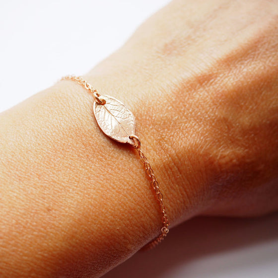Leaf Bracelet in Silver, Gold and Rose Gold
