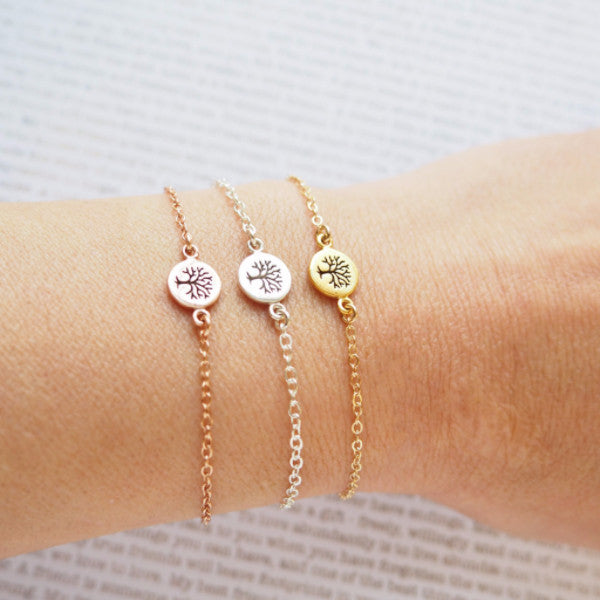 Tree of Life Bracelet in Silver, Gold and Rose Gold