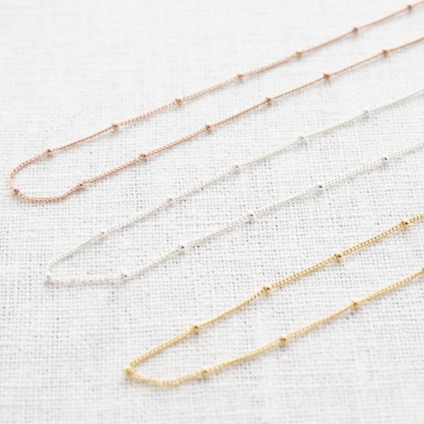 Satellite Necklace in Sterling Silver, Gold and Rose Gold