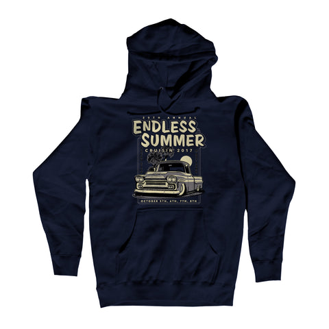 2017 Cruisin Endless Summer official car show event hoodie navy blue Ocean City MD
