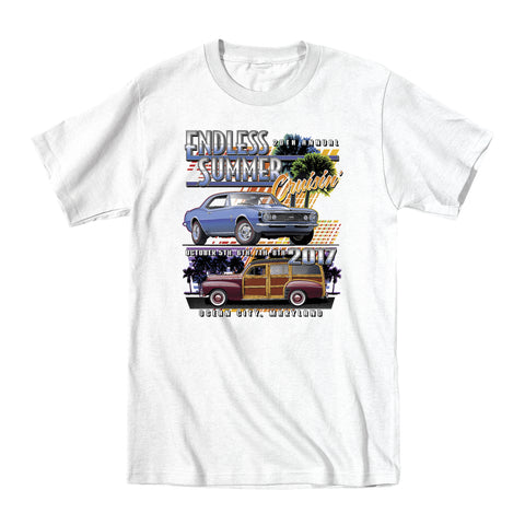 2017 Cruisin Endless Summer official car show event t-shirt white Ocean City MD