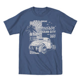 2017 Cruisin official classic car show event t-shirt blue jean Ocean City Maryland