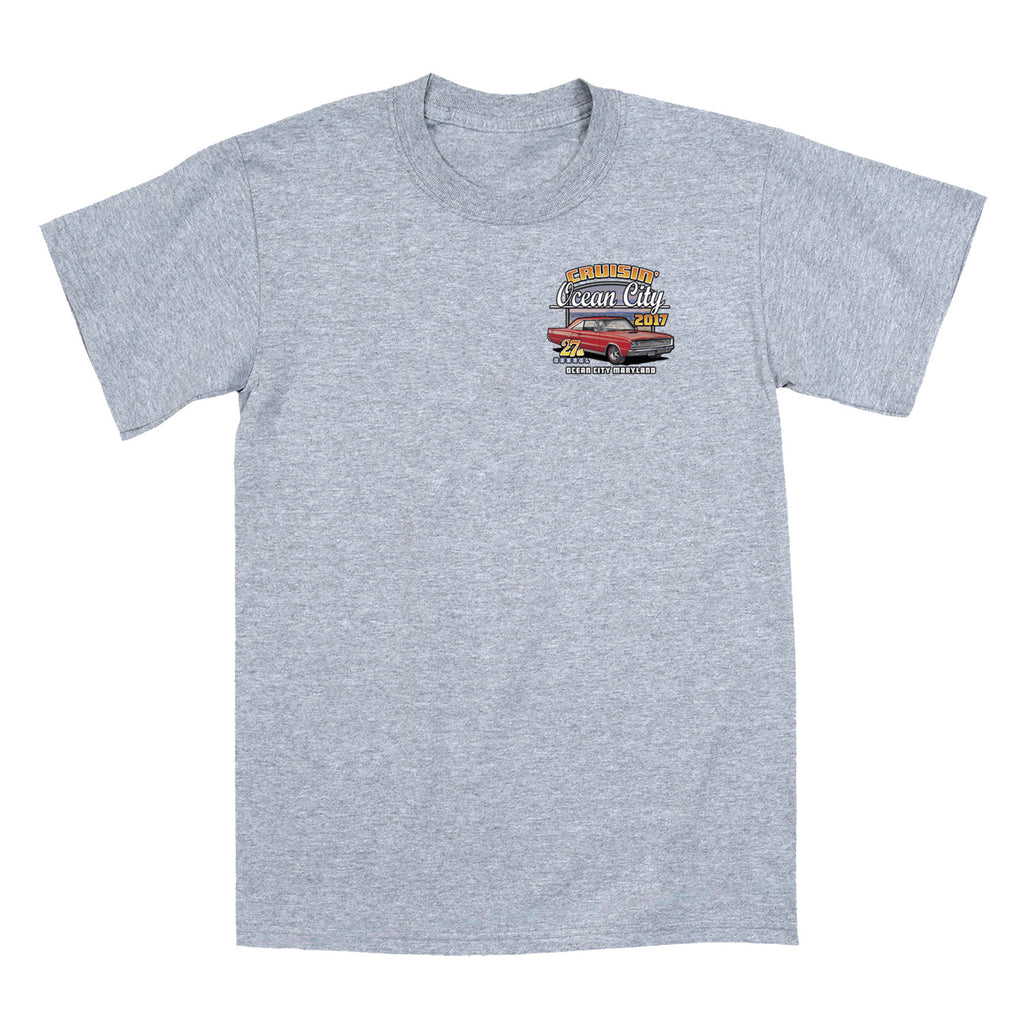 Cruisin Ocean City >> 2017 Cruisin official classic car show event t-shirt gray ...