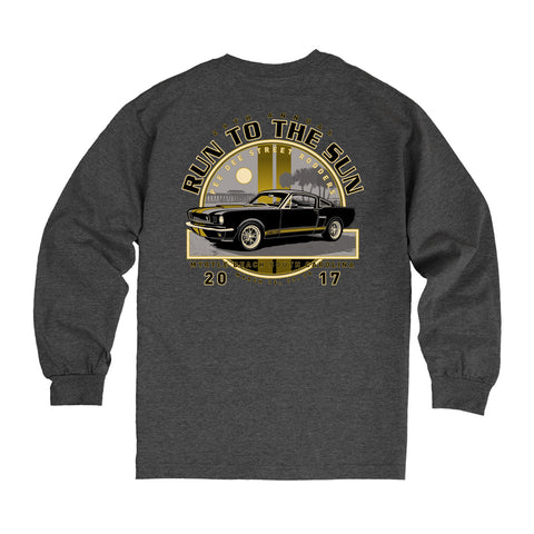 2017 Run to the Sun official car show event long sleeve t-shirt heather charcoal Myrtle Beach, SC