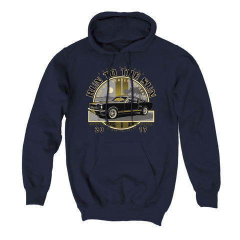 2017 Run to the Sun official car show event Hooded Sweatshirt Navy Myrtle Beach, SC