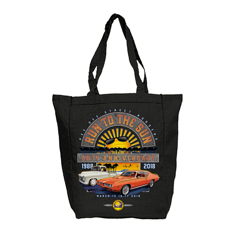 2018 Run to The Sun official car show black tote bag Myrtle Beach SC