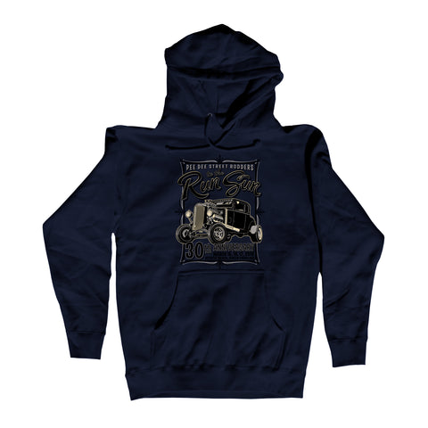 2018 Run to the Sun official car show event navy hooded sweatshirt shirt Myrtle Beach